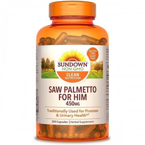 Palma Enana Americana Saw Palmetto SUNDOWN NATURALS 450 mg 250 Capsulas Herbarias V3012 SUNDOWN NATURALS