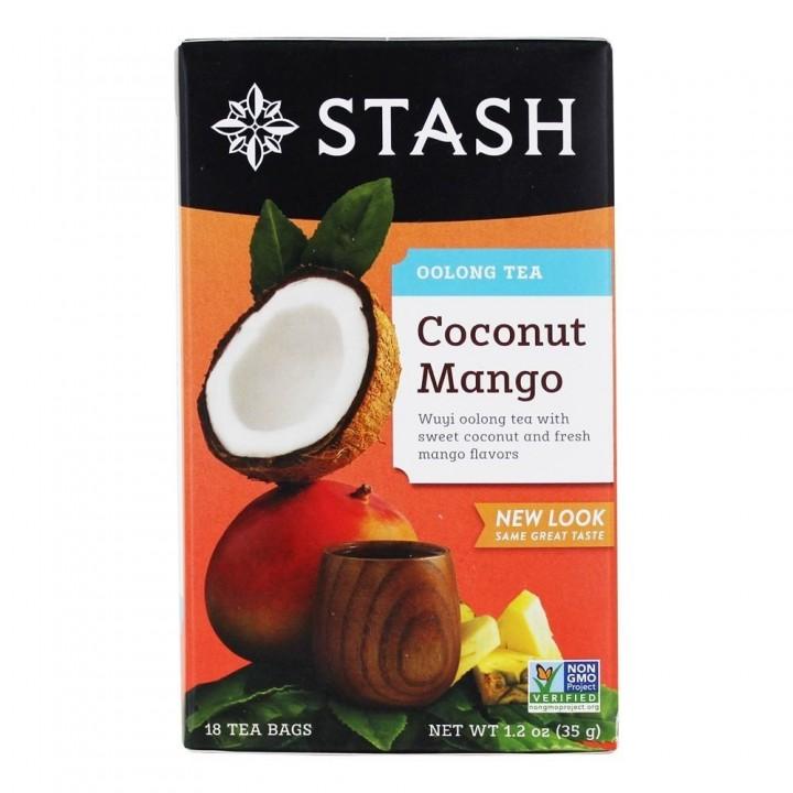 Te STASH Oolong Tea Coconut Mango Wuyi Oolong 18 Bolsitas 35 g T2027 STASH