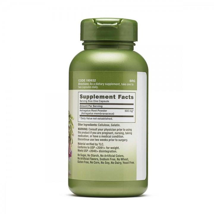 Astragalus 500mg GNC Herbal Plus Soporte Inmune100 Capsulas V3241 GNC