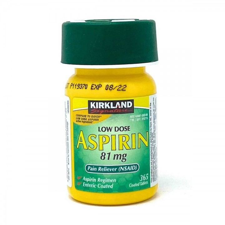 Kirkland Signature Aspirina Dosis Baja 81 Mg 365 Tabletas Recubiertas V3253 Kirkland Signature
