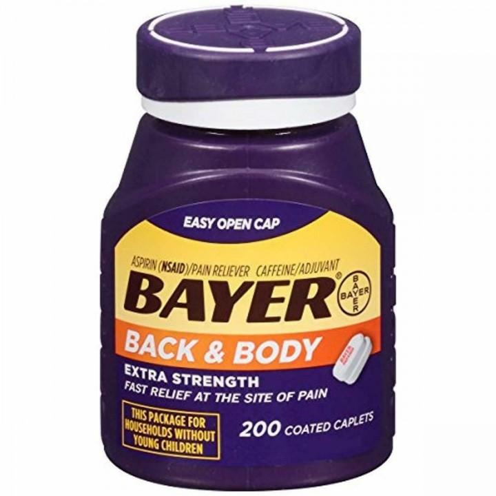 Bayer Aspirina Espalda y Cuerpo 500 Mg 200 Tabletas Recubiertas V3254 Bayer