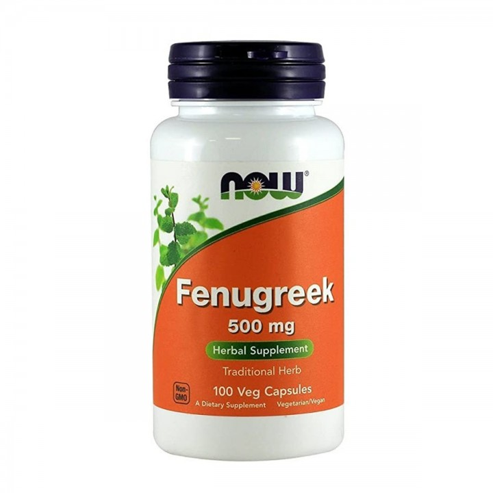 NOW Fenugreek Suplemento Herbario 500 Mg 100 Capsulas V3257 Now Nutrition for Optimal Wellness