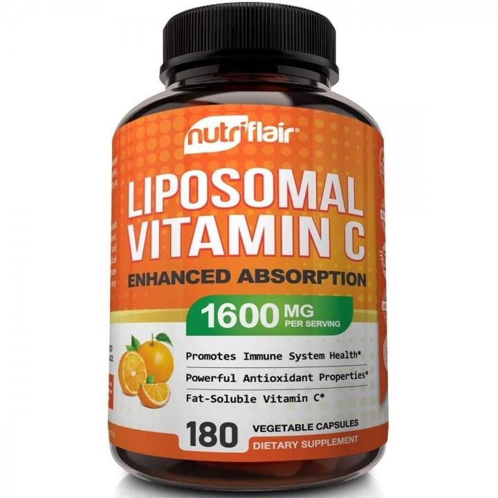 nutriflair Liposomal Vitamina C Absorcion Mejorada 1600mg 180 Capsulas V3260 Nutriflair