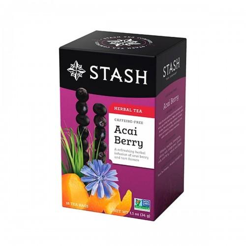 TE STASH Herbal Tea Caffeine-Free Acai Berry 18 Bolsitas 34 g T2002 STASH