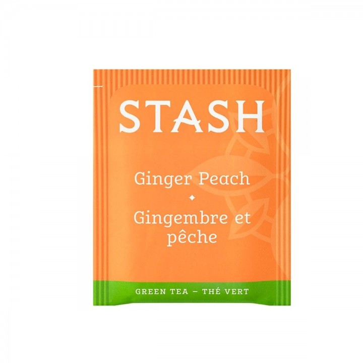 Te STASH Green Tea & Matcha Ginger Peach 18 Bolsitas 36 g T2044 STASH