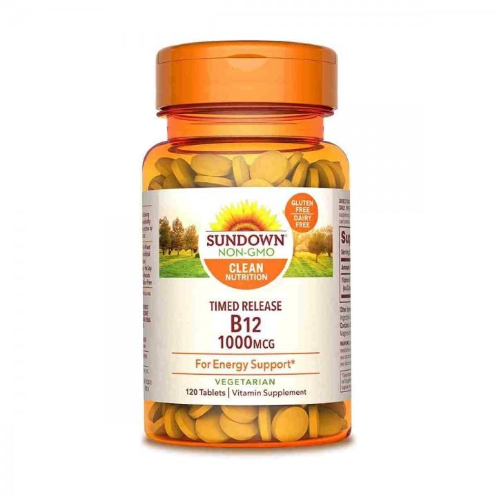 SUNDOWN B12 Apoyo Energético 1000 Mcg 120 Tabletas V3274 Nature Made