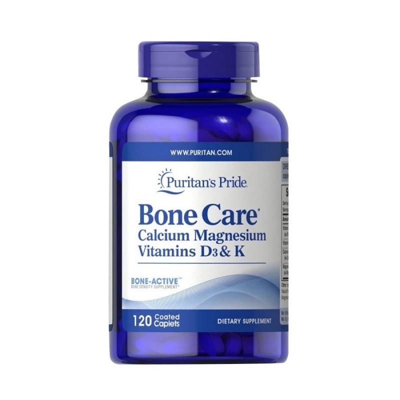 Puritan's Pride Bone Care Protege los Huesos, Calcio, Magnesio Vitamina D3 y K 120 Capsulas V3276 Puritan's Pride