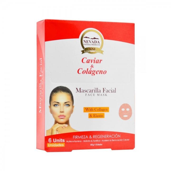 NEVADA NATURAL PRODUCTS Mascarilla Facial Caviar y Colageno Firmeza y Regeneracion 6 Uds C1112 Nevada Natural Products