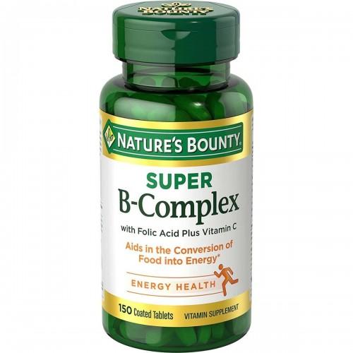 NATURES BOUNTY Super B-Complex con Acido Folico Plus y Vitamina C 150 Tabletas V3289 NATURE'S BOUNTY