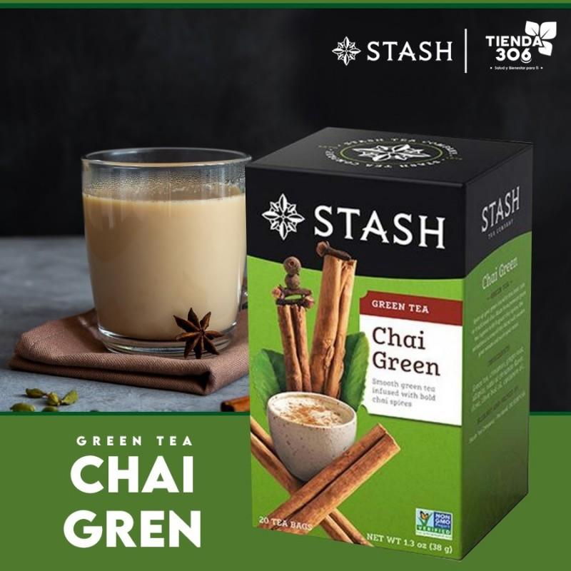 Te STASH Green Tea Chai Green 20 Bolsitas 38 g T2006 STASH