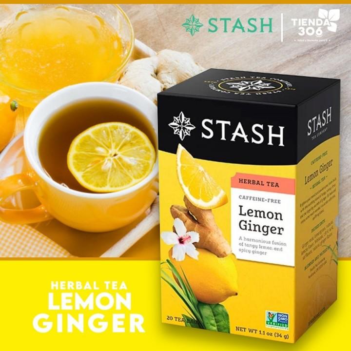 Te STASH Herbal Tea Caffeine-Free Lemon Ginger 20 Bolsitas 34 g T2008 STASH