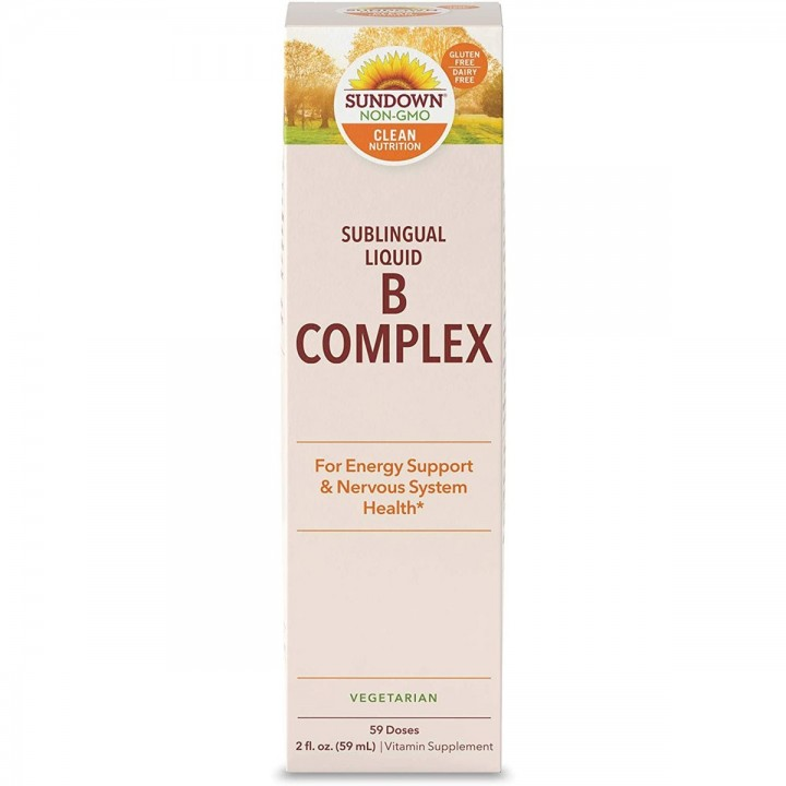 SUNDOWN COMPLEJO B Liquido Apoyo Energético y Salud Sistema Nervioso 59 mL V3305 SUNDOWN NATURALS