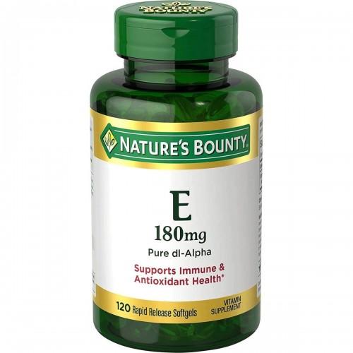 NATURE'S BOUNTY VITAMINA E Soporte Inmune y Antioxidante 180mg 120 Softgels V3307 NATURE'S BOUNTY