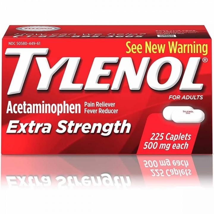 TYLENOL Acetaminofen para Adultos Fuerza Extra 500 mg 225 Capsulas V3311 TYLENOL