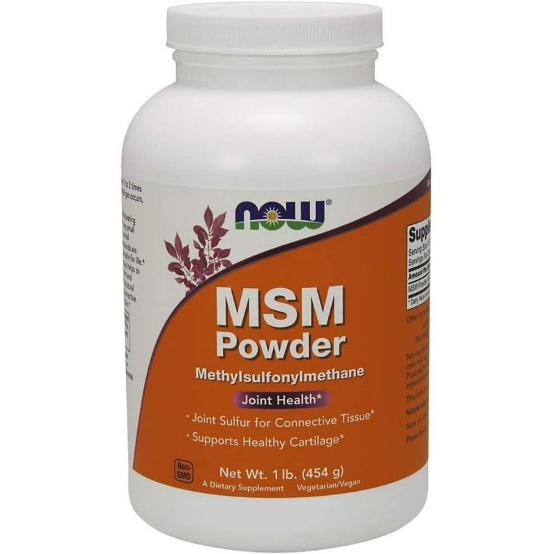 Now Foods MSM en Polvo Soporte Salud de las Articulaciones 1 Lb (454 g) V3315 Now Nutrition for Optimal Wellness