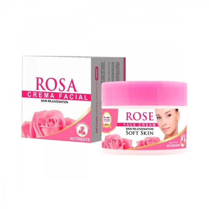 Nevada Crema Facial Rosa Piel Seca Rejuvenecedora 140g C1033 Nevada Natural Products