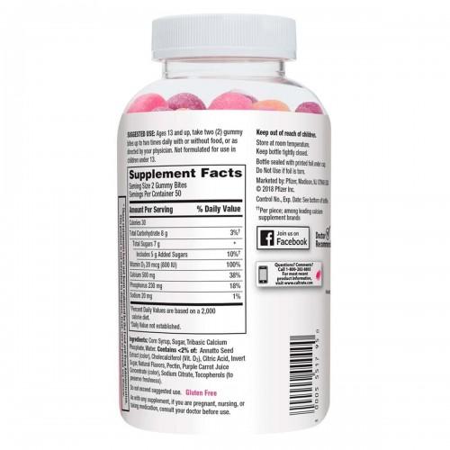 Caltrate Huesos Saludables Mayor Nivel de Vitamina D3 100 Gomitas V3329 Caltrate