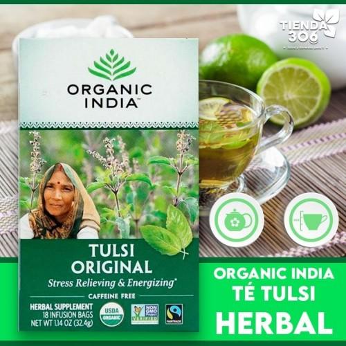 Te ORGANIC INDIA Tulsi Original Caffeine Free 18 Bolsitas 32.4g T2055 ORGANIC INDIA