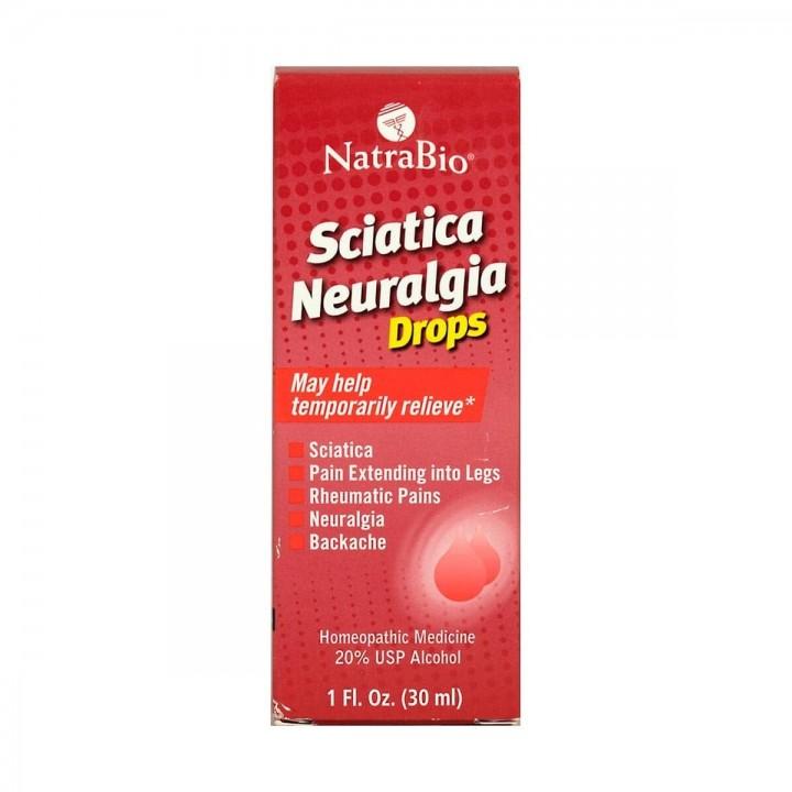 NatraBio Sciatica Neuralgia Gotas 30 ml V3330 NatraBio