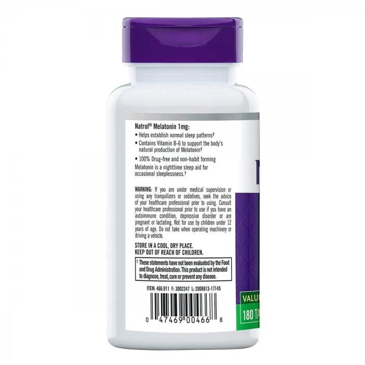 Natrol Melatonin Sueño Prolongado 1mg 180 Tabletas V3331 Natrol