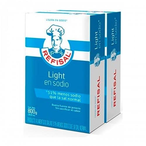 Sal Light Refisal 50% Menos en Sodio 800grs X 2 Cajas