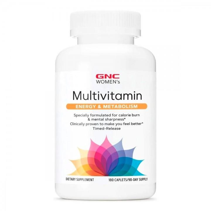 GNC Womens Multivitamina Mujer Energia y Metabolismo 180 Capsulas V3009 GNC