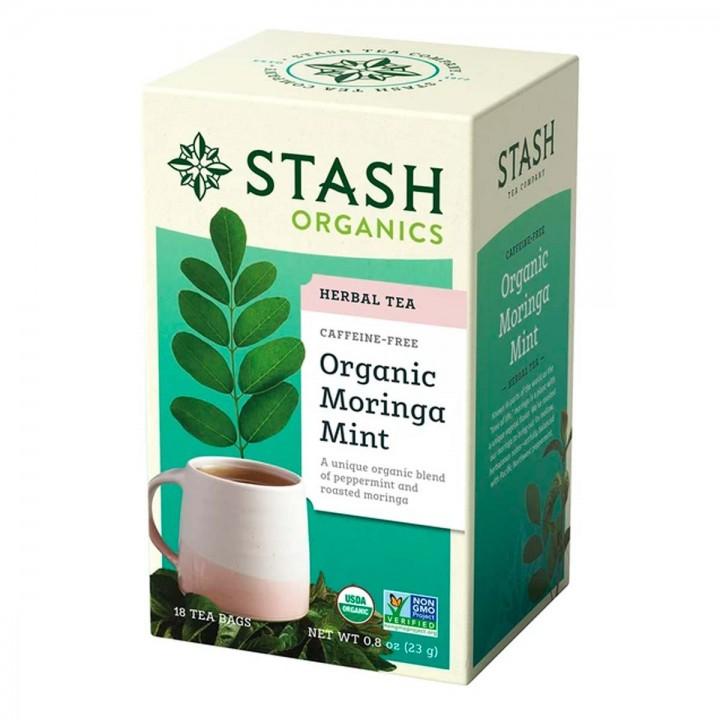 Te STASH Organic Herbal Tea Caffeine Free Moringa Mint