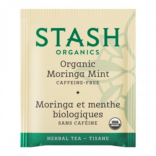 Te STASH Organic Herbal Tea Caffeine Free Moringa Mint 18 Bolsitas 23 Gramos T2035 STASH