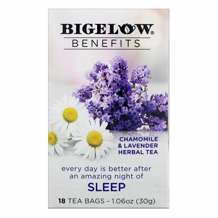 Té Bigelow Herbal Manzanilla y Lavanda Libre de Cafeína 18 Bolsitas 30g T2045 BIGELOW