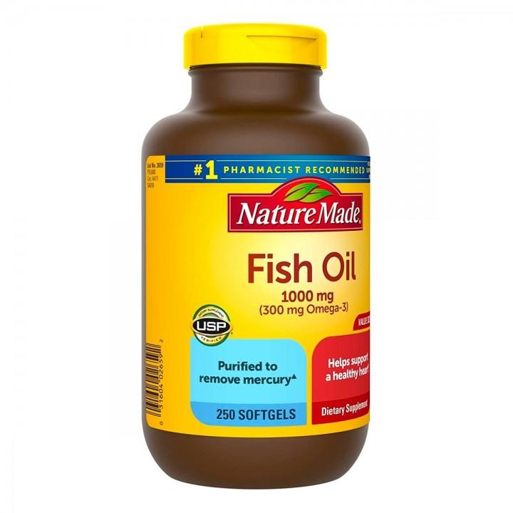 Nature Made Fish Oil 1000 mg (300mg Omega-3) 250 Capsulas V3106 Nature Made