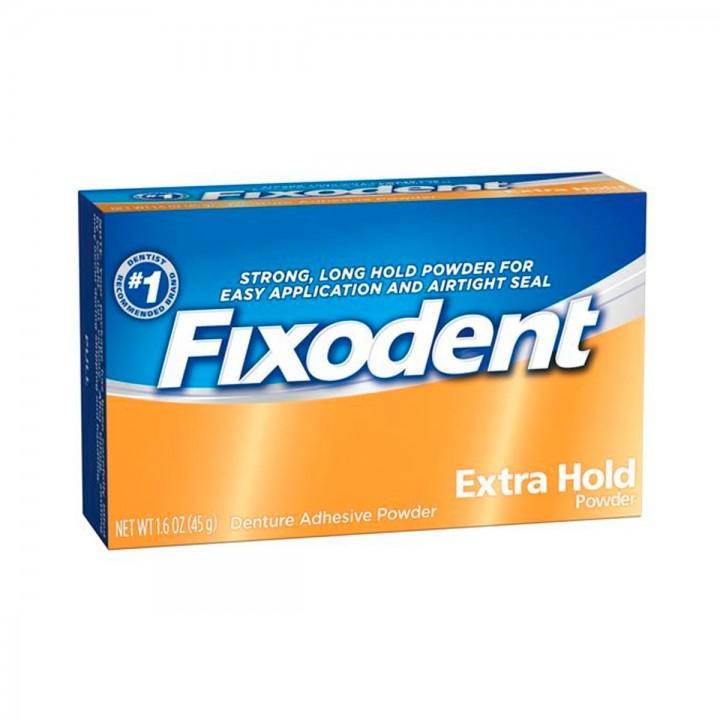 Polvo Adhesivo Para Dentaduras Postizas Fixodent Extra Hold Powder - Tienda 306