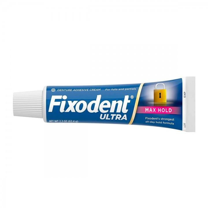 Fixodent Ultra Max Hold Adhesivo dental 2.2 OZ (62.4g) C1150 FIXODENT