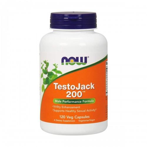 Now TestoJack 200 Formula para el Desempeño Masculino 120 Capsulas V3123 Now Nutrition for Optimal Wellness