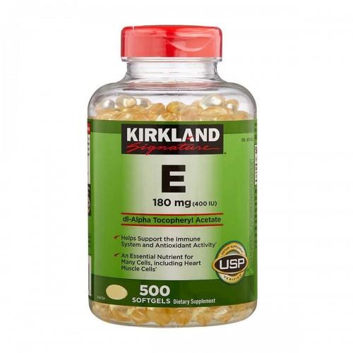 Vitamina E KIRKLAND 180 mg (400 IU) 500 Cápsulas blandas V3018 Kirkland Signature