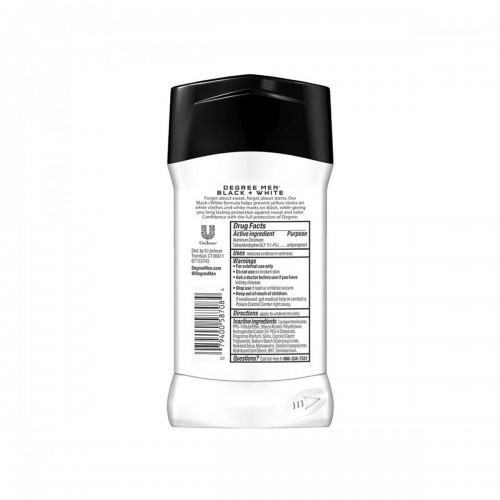 Desodorante Antitranspirante Degree Mens Motion Sense Ultra Clear Black + White Protección 48h En Seco 2.7 Onzas (76g) C1009 ...