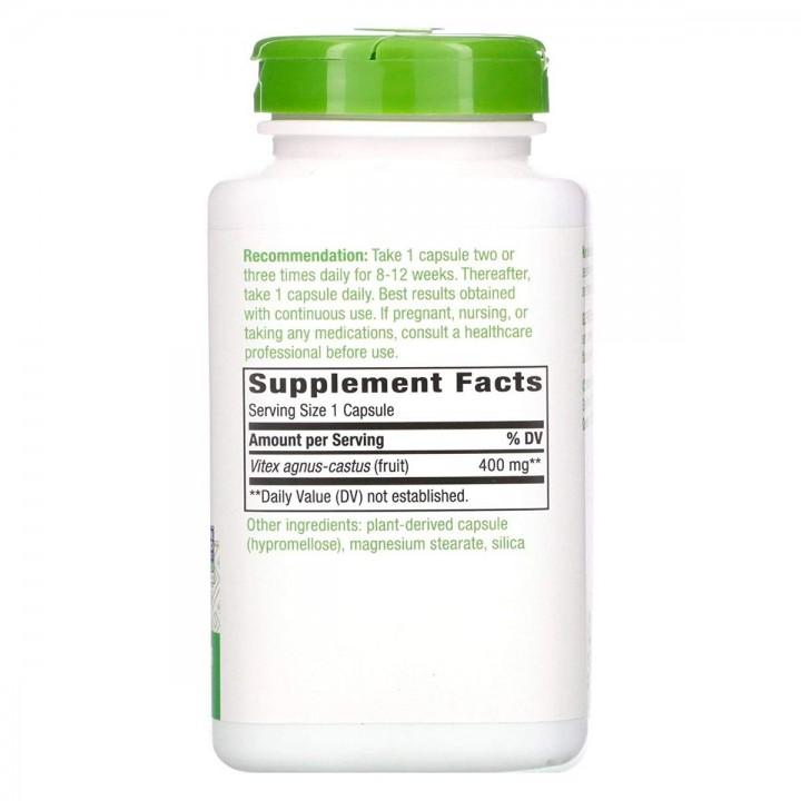 Natures Way Vitex Fruit 320 Capsulas 400 mg V3114