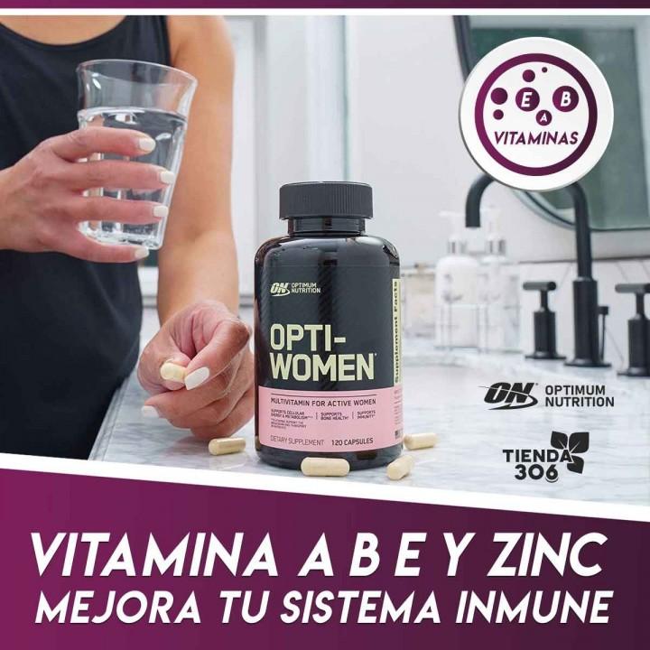 ON Optimum Nutrition Opti-Women  Contiene nutrientes Tienda 306