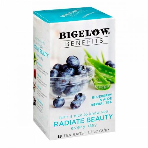 Té Bigelow Herbal Arándanos y Aloe Vera Libre de Cafeína 18 Bolsitas 37g T2051 BIGELOW