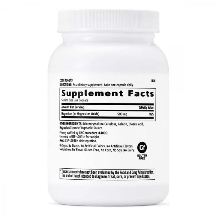 GNC Magnesio 500 mg 120 Capsulas V3099 GNC