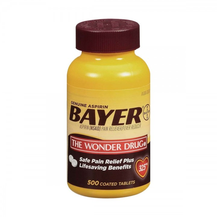 Aspirina Bayer Americana 325 mg 500 Capsulas V3210 Bayer