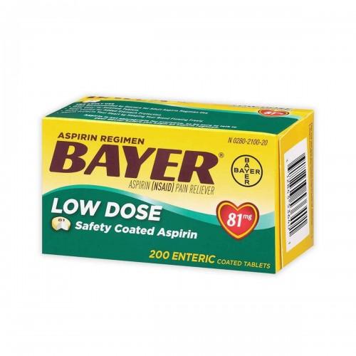 Aspirina Bayer Americana 81 mg 200 Tabletas V3040 Bayer