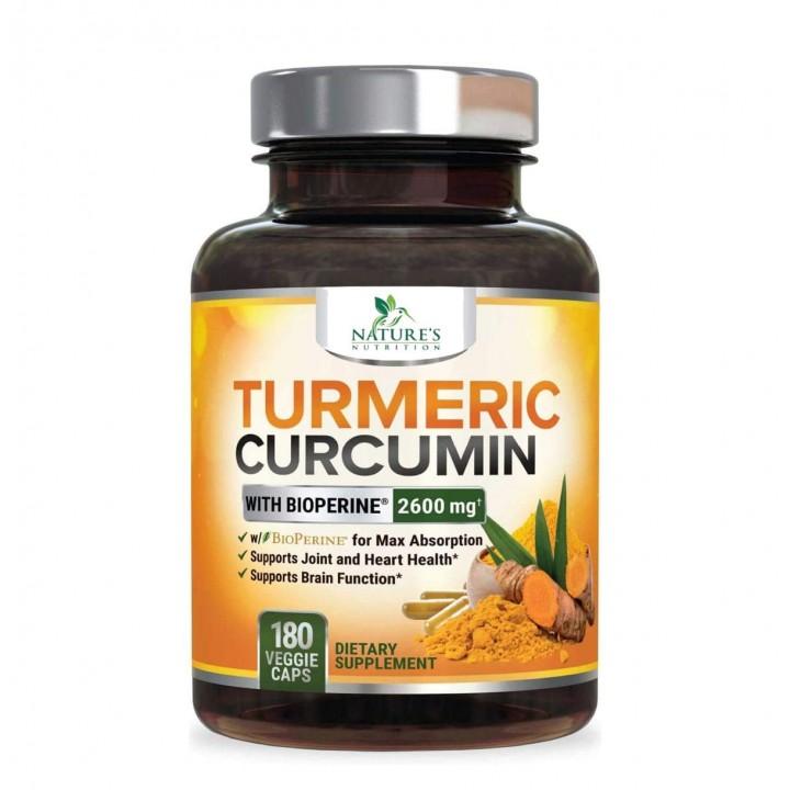 Natures Nutrition Curcuma Turmeric Curcumina Curcumin Pimienta Negra - Tienda 306