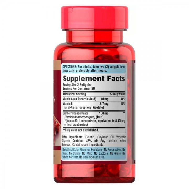 Puritan's Pride Extracto de Arandanos 4200 mg 100 Capsulas Blandas V3133 Puritans Pride