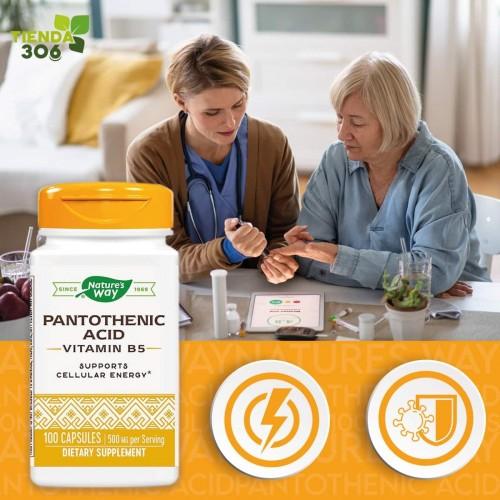 Natures Way Pantothenic Acid 500MG 100 Capsulas V3028 Nature's Way