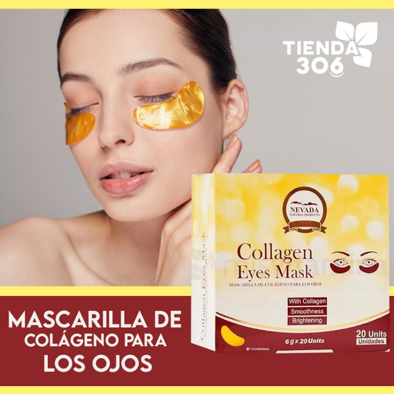 Mascarilla de Colageno Para los Ojos Nevada Natural Products Caja 6 g x 20 unidades C1055 Nevada Natural Products