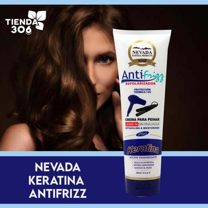 Nevada Anti-Frizz Repolarizador Keratina Proteccion Termica / UV 280 ml C1006 Nevada Natural Products