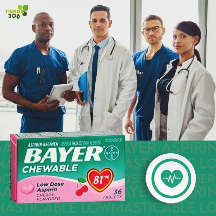 Bayer Aspirina Masticable Low Dose 81mg Cherry V3033 Bayer