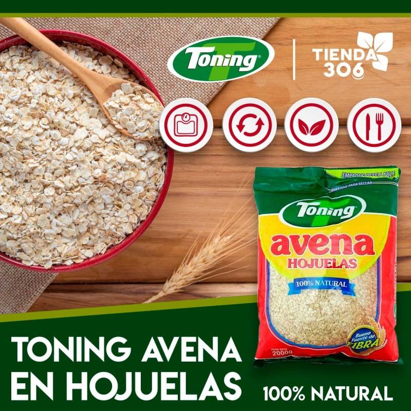 Toning Avena en Hojuelas 100% Natural 2000g D1149 Toning