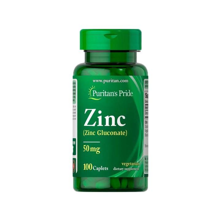 Puritan's Pride Gluconato de Zinc 50 mg 100 Tabletas V3145 Puritan's Pride