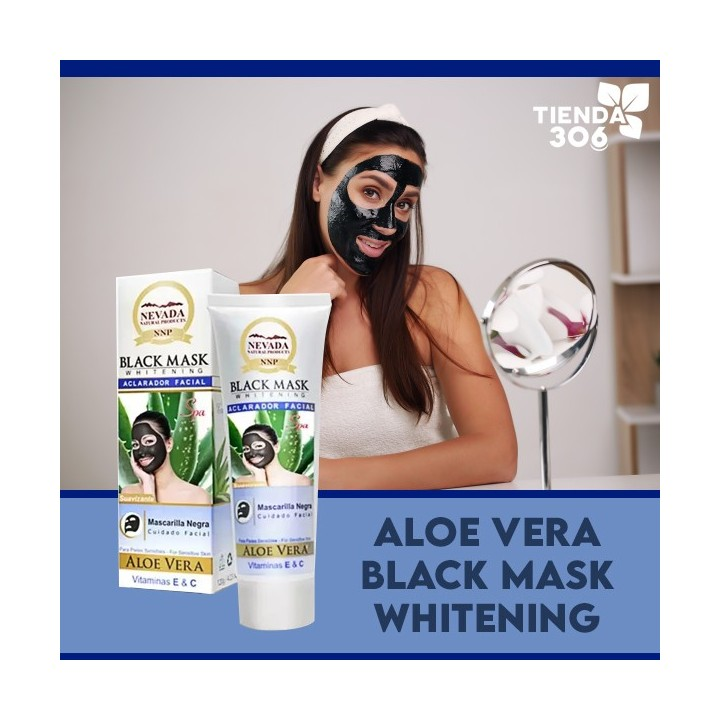 Nevada Mascarilla Black Mask de Aloe Vera Aclarador Facial Suavizante 120g C1029 Nevada Natural Products